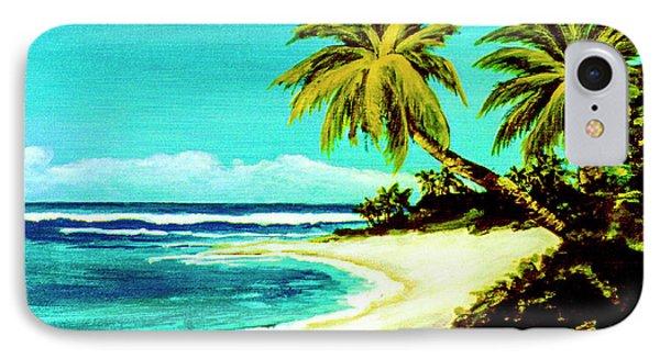 Sunset Beach Hawaiian #113 Phone Case by Donald k Hall
