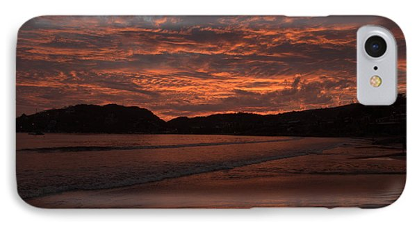 Sunset Beach IPhone Case by Jim Walls PhotoArtist