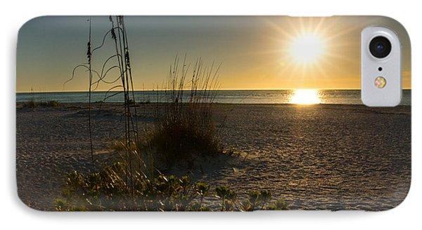Sunset Beach IPhone Case by Rebecca Hiatt