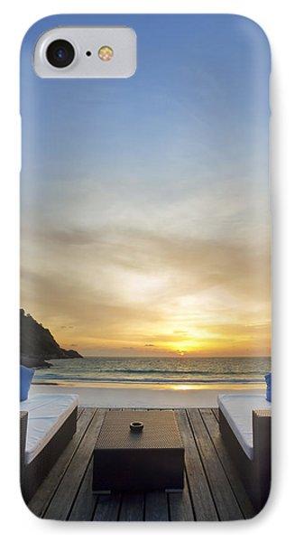 Sunset Beach IPhone Case by Setsiri Silapasuwanchai