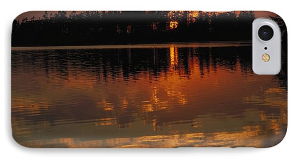 Sunset Behind The Trees On A Lake IPhone Case by Gillham Studios