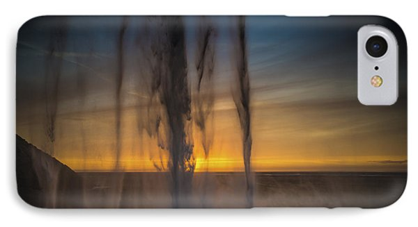 IPhone Case featuring the photograph Sunset Behind The Waterfall by Chris McKenna