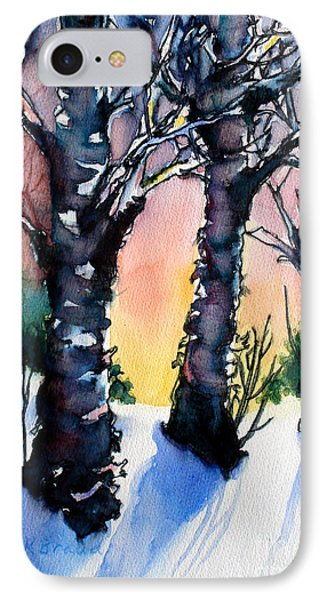 Sunset Birches On The Rise Phone Case by Kathy Braud