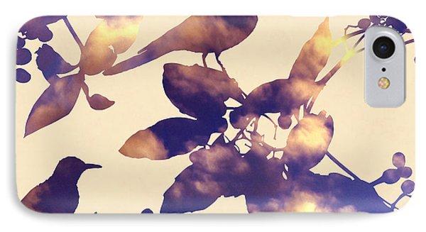 Sunset Birds IPhone Case by Varpu Kronholm