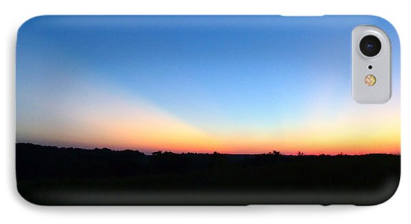 Sunset Blue IPhone Case by Jana Russon