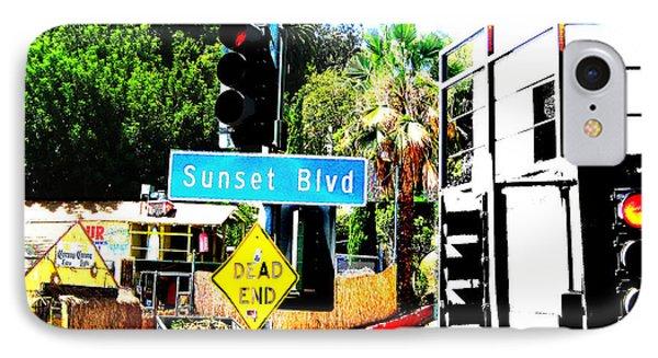 Sunset Blvd Phone Case by Maria Kobalyan
