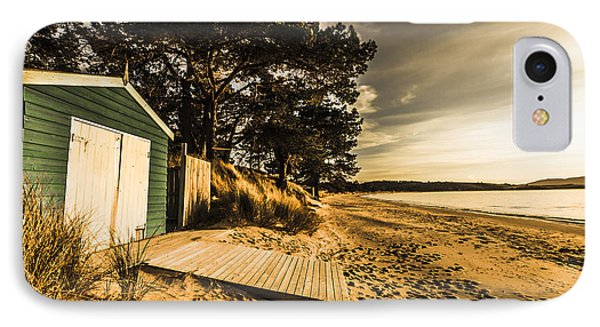 Sunset Boat Shed IPhone Case by Jorgo Photography - Wall Art Gallery