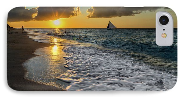 Sunset Boracay IPhone Case by Adrian Evans
