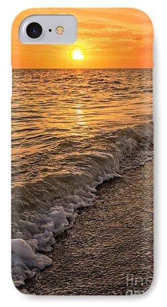 Sunset Bowman Beach Sanibel Island Florida  IPhone Case by Edward Fielding