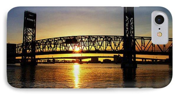 IPhone Case featuring the photograph Sunset Bridge 1 by Arthur Dodd