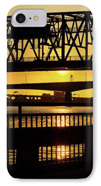 IPhone Case featuring the photograph Sunset Bridge 2 by Arthur Dodd
