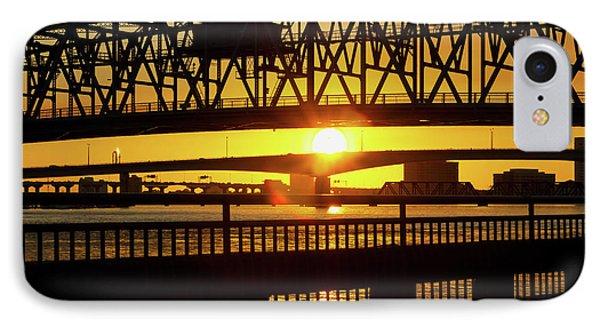 IPhone Case featuring the photograph Sunset Bridge 3 by Arthur Dodd