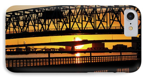 IPhone Case featuring the photograph Sunset Bridge 4 by Arthur Dodd