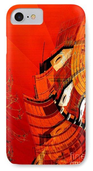 Sunset Building IPhone Case by Thibault Toussaint