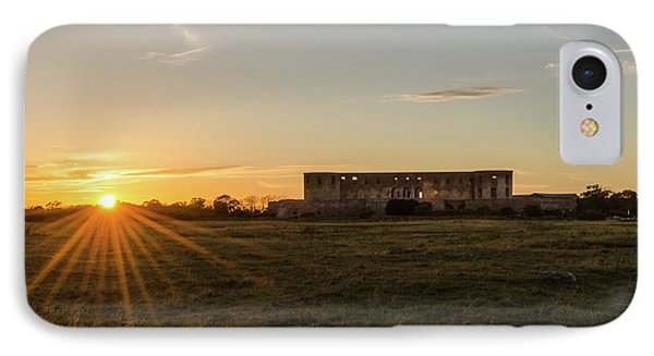 IPhone Case featuring the photograph Sunset By Old Castle Ruin by Kennerth and Birgitta Kullman