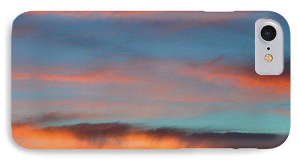Sunset Clouds In Blue Sky  IPhone Case