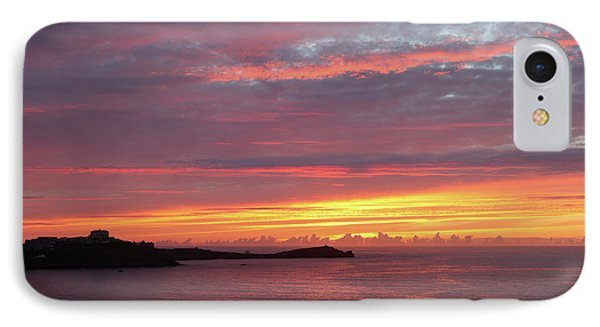 IPhone Case featuring the photograph Sunset Clouds In Newquay Cornwall by Nicholas Burningham