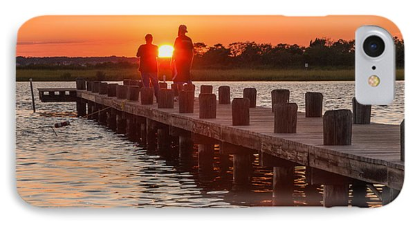 Sunset Couple IPhone Case by Kristopher Schoenleber
