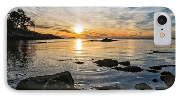 Sunset Cove Gloucester IPhone Case by Michael Hubley