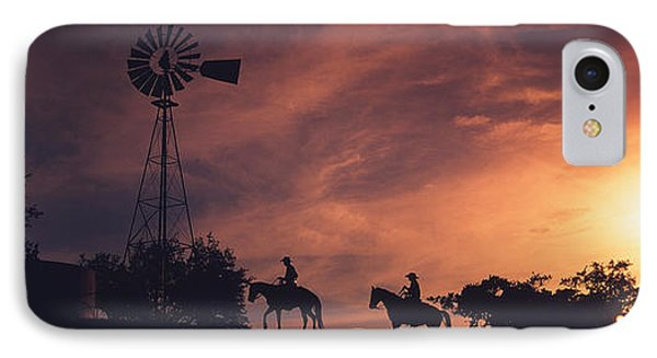 Sunset, Cowboys, Texas, Usa IPhone Case by Panoramic Images