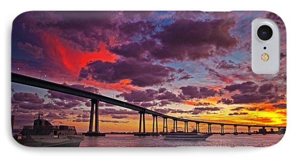 Sunset Crossing At The Coronado Bridge IPhone Case
