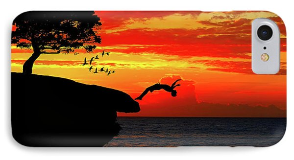 Sunset Dive IPhone Case