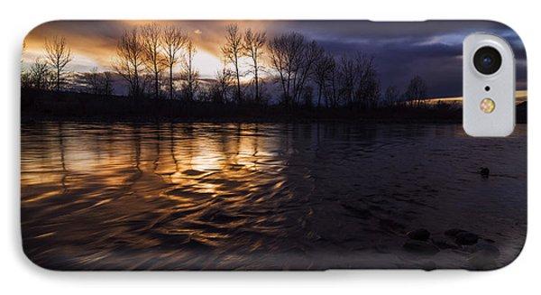Sunset Drama Over Boise River In Boise Idaho IPhone Case by Vishwanath Bhat