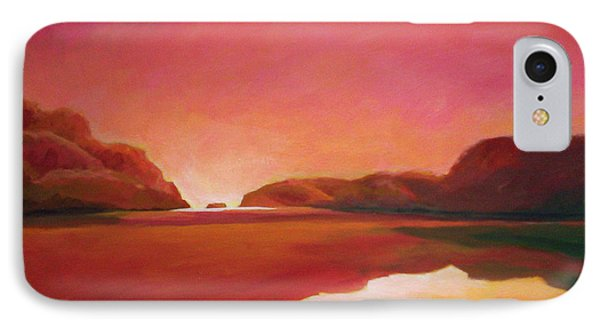 Sunset Estuary IPhone Case by Angela Treat Lyon