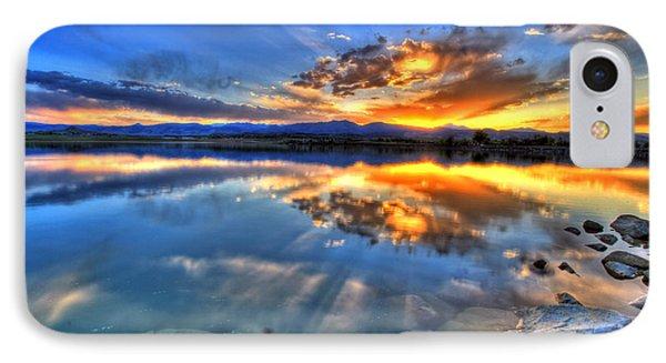 Sunset Explosion Phone Case by Scott Mahon