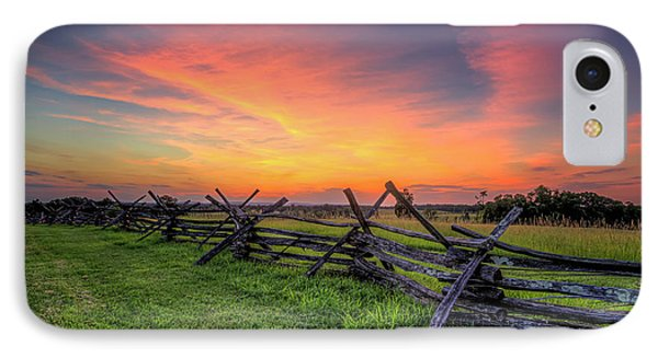 Sunset Fence IPhone Case