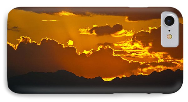 IPhone Case featuring the photograph Sunset Fire by Colleen Coccia