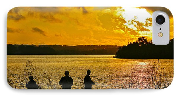 Sunset Fishermen Smith Mountain Lake IPhone Case by The American Shutterbug Society