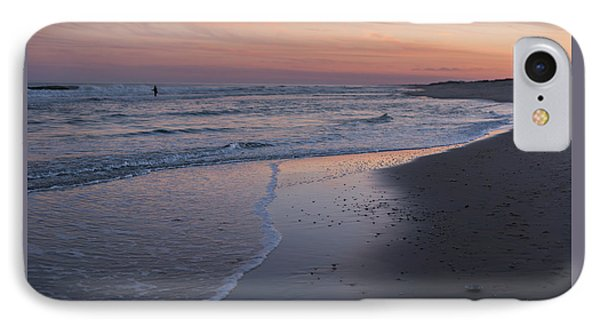 IPhone Case featuring the photograph Sunset Fishing Seaside Park Nj by Terry DeLuco