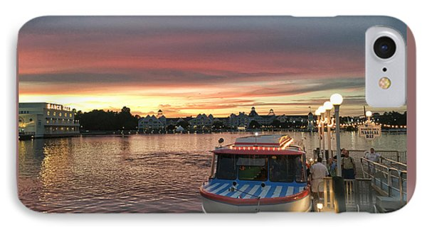Sunset From The Boardwalk IPhone Case by John Black