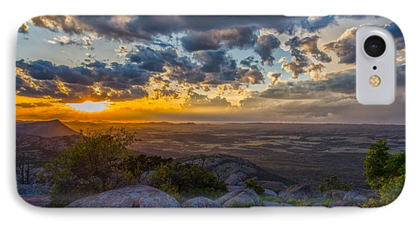 Sunset From The Heavens IPhone Case by James Menzies