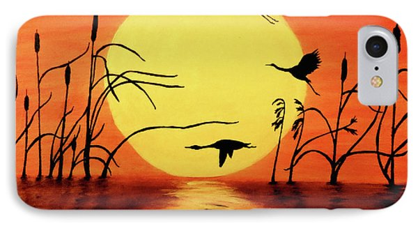 Sunset Geese IPhone 7 Case by Teresa Wing