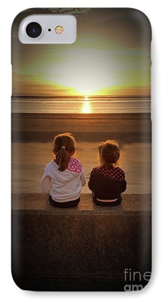 Sunset Sisters IPhone Case by Lynn Bolt