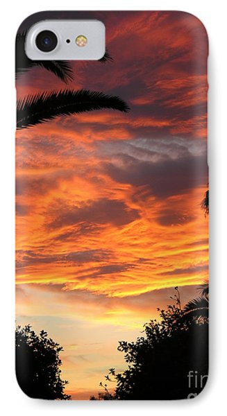 Sunset God's Fingers In Clouds  Phone Case by Diane Greco-Lesser