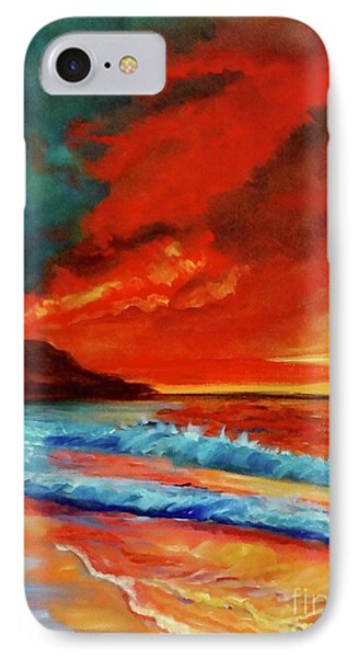 Sunset Hawaii IPhone Case by Jenny Lee
