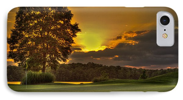 Sunset Hole In One The Landing IPhone Case by Reid Callaway