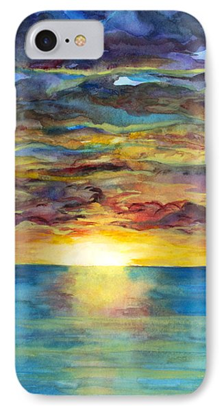 IPhone Case featuring the painting Sunset II by Suzette Kallen