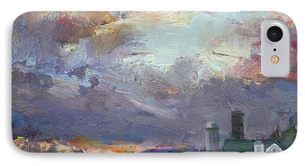 Sunset In A Troubled Weather IPhone Case by Ylli Haruni