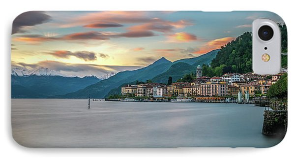 Sunset In Bellagio On Lake Como Phone Case by James Udall