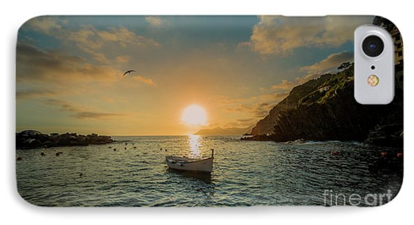 Sunset In Cinque Terre IPhone Case by Alex Dudley