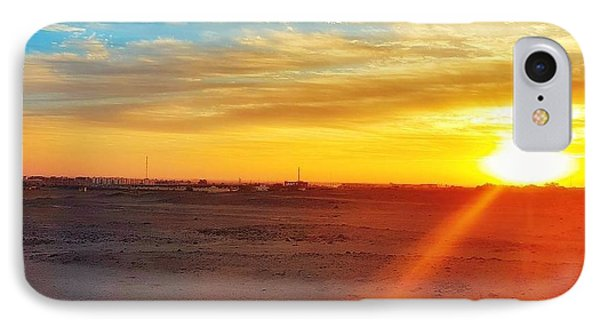 Landscapes iPhone 7 Case - Sunset In Egypt by Usman Idrees