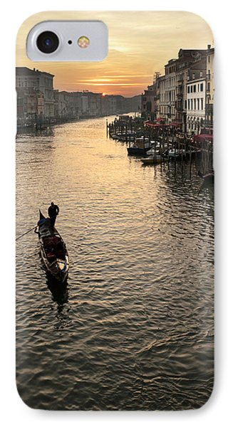Sunset In Grand Canal IPhone Case by Marco Missiaja