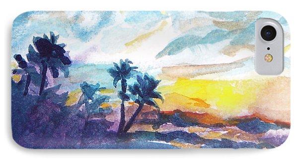 Sunset In Hawaii IPhone Case by Jan Bennicoff
