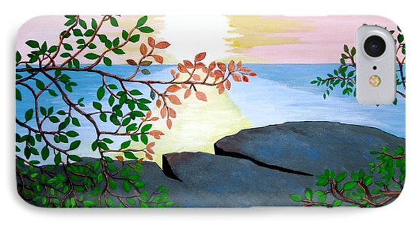 IPhone Case featuring the painting Sunset In Jamaica by Stephanie Moore