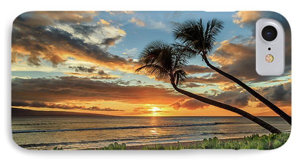 IPhone Case featuring the photograph Sunset In Kaanapali by James Eddy