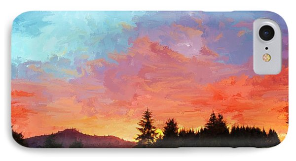 Sunset In Oregon IPhone Case by Debra Baldwin